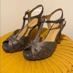 Antonio Melani Jeweled Platform Sandals